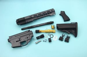 EMG SAI Gas Blow BackKit For Tokyo Marui M4 MWS GBBR (Short) - Cerakote Grey(by G&P + Gunsmodify)